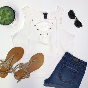 [Rue21] Lace-Up Crop Top